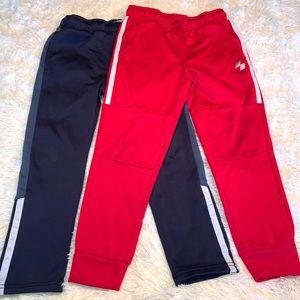 (2) Boys side stripe jogger sport pants size M 7/8